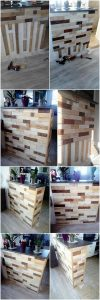 DIY Pallet Kitchen Counter