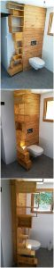 Pallet Bathroom Creation