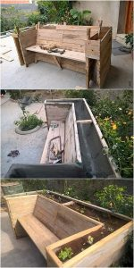 Pallet Bench with Planter