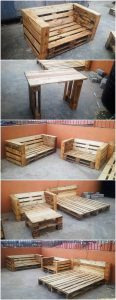 Pallet Couch Set and Bed Frame