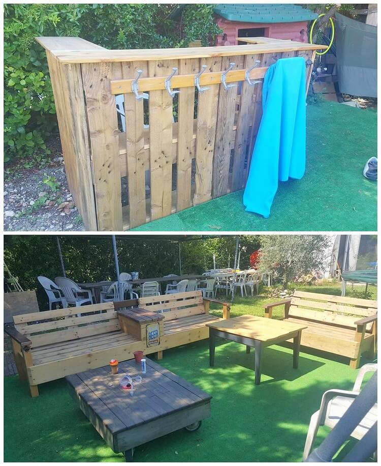Pallet Garden Bar and Furniture