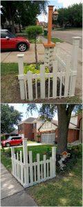 Pallet Garden Decorative Fence