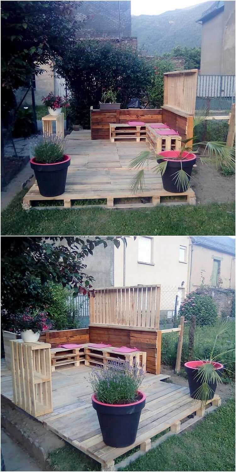 Pallet Garden Terrace and Couch