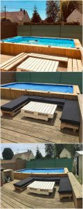 Pallet Oudoor Swimming Pool and Furniture