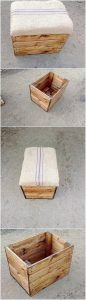 Pallet Seat with Storage Box