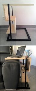 Pallet Side Table Stand