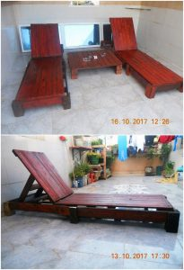 Pallet Sun Loungers and Table