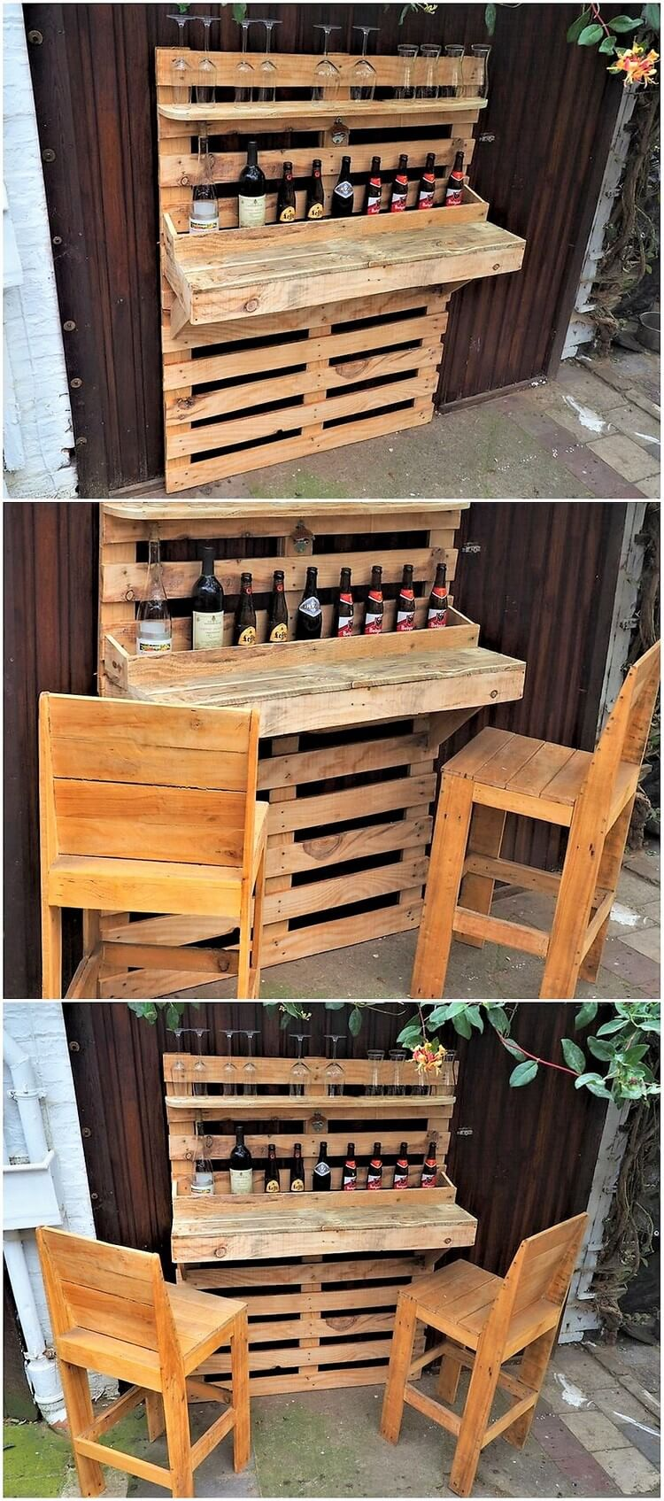 Pallet Wine Bar and Chairs
