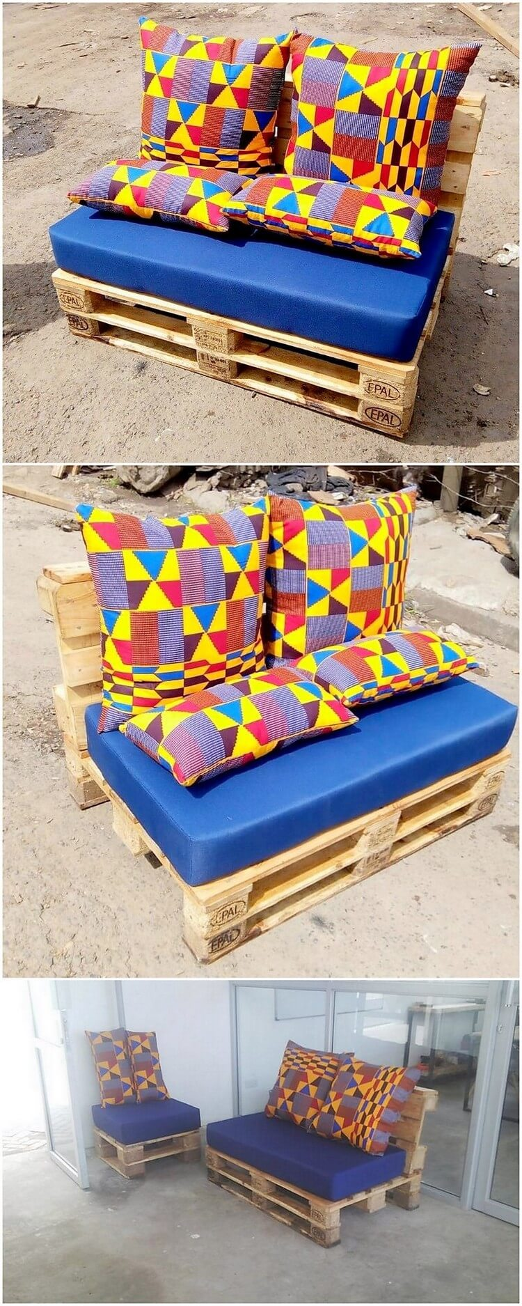 Wooden Pallet Seat