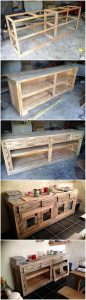 DIY Pallet Cabinet or Hutch