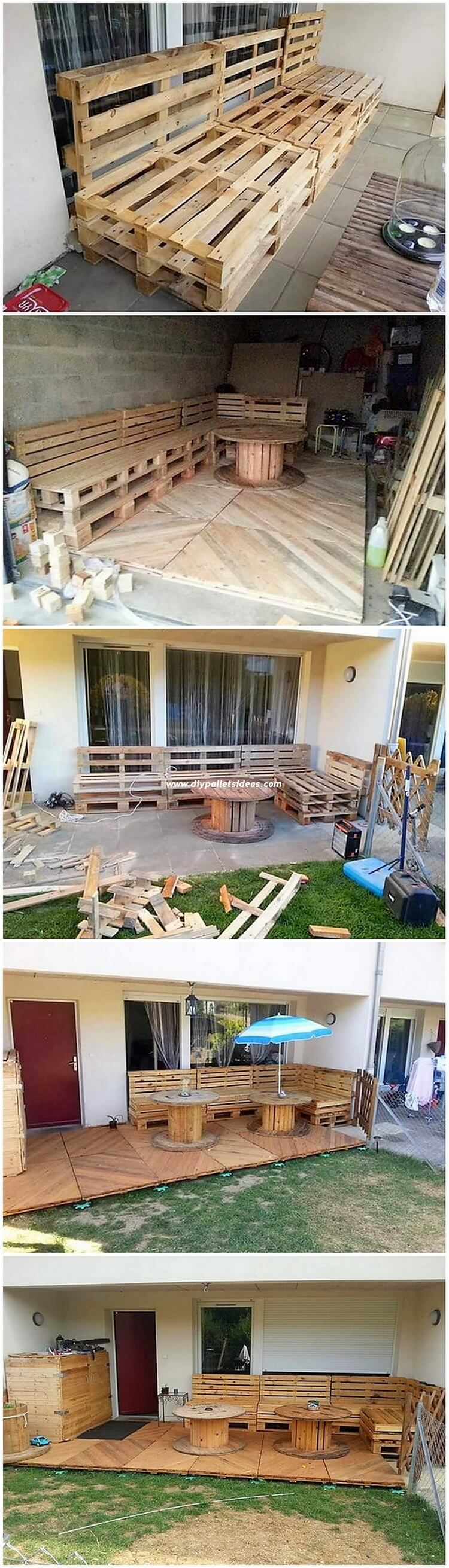 DIY Pallet Couch with Garden Terrace