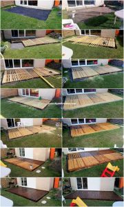 DIY Pallet Garden Terrace Plan Step by Step
