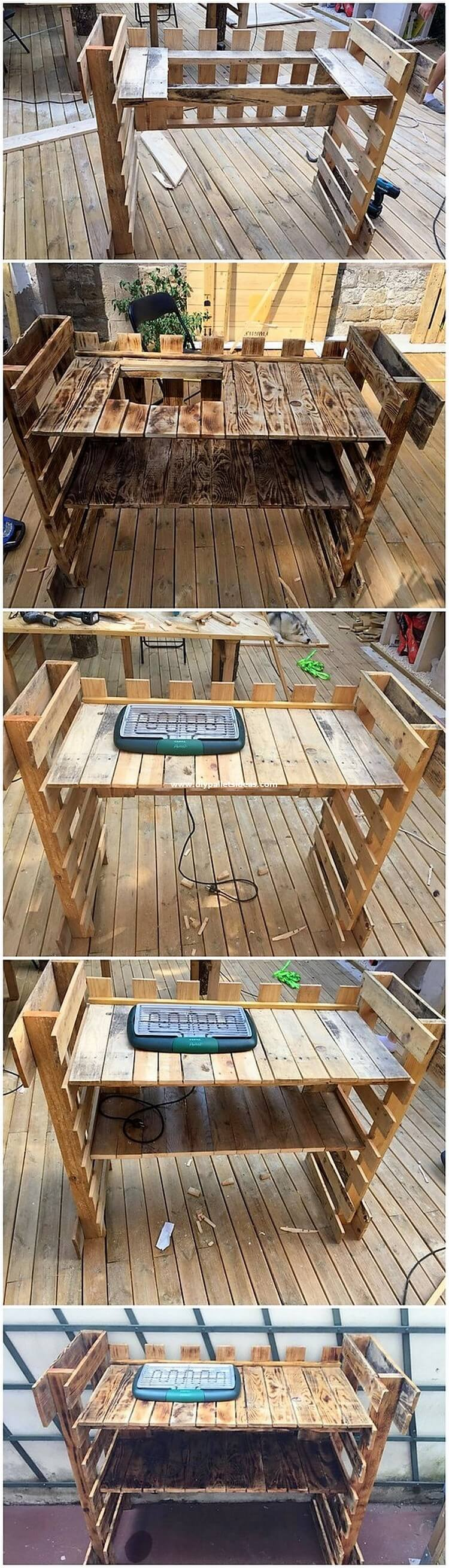 DIY Pallet Grill Table
