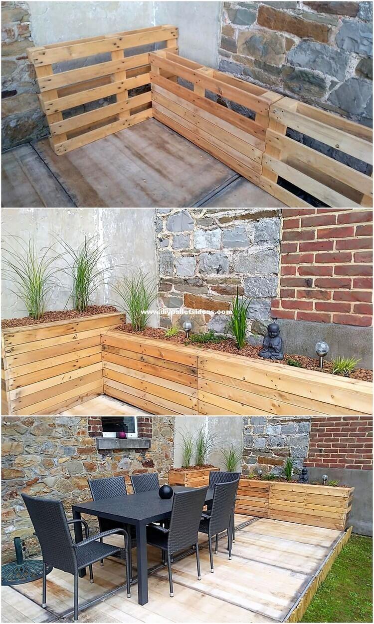 DIY Pallet Planter and Garden Deck