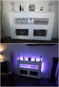 Pallet Bar Table with Lights
