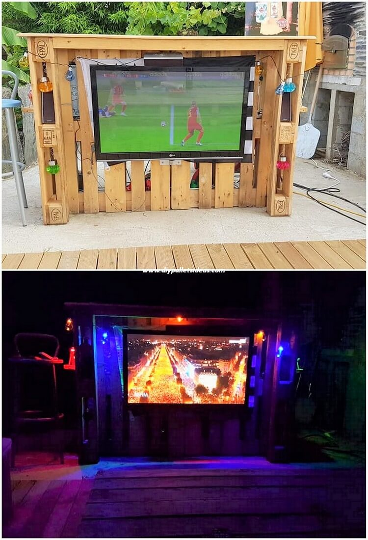 Pallet Bar with LED Holder