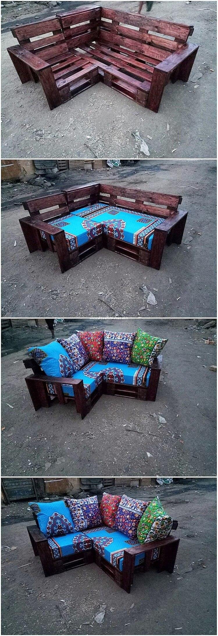 Pallet Corner Couch