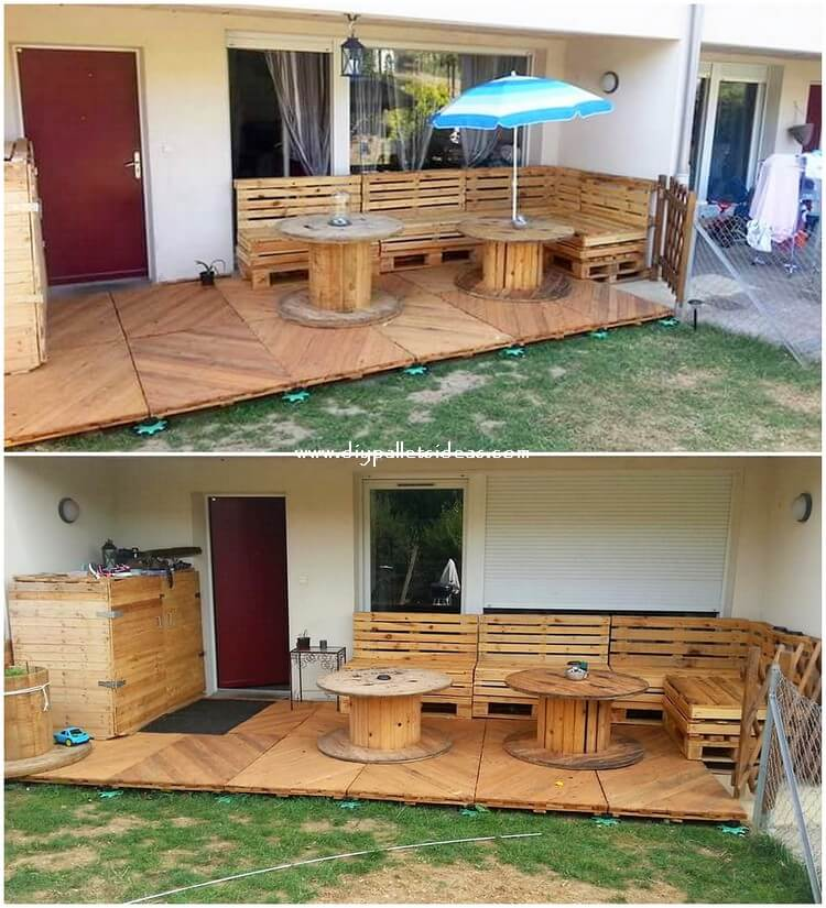 Pallet Couch with Garden Terrace