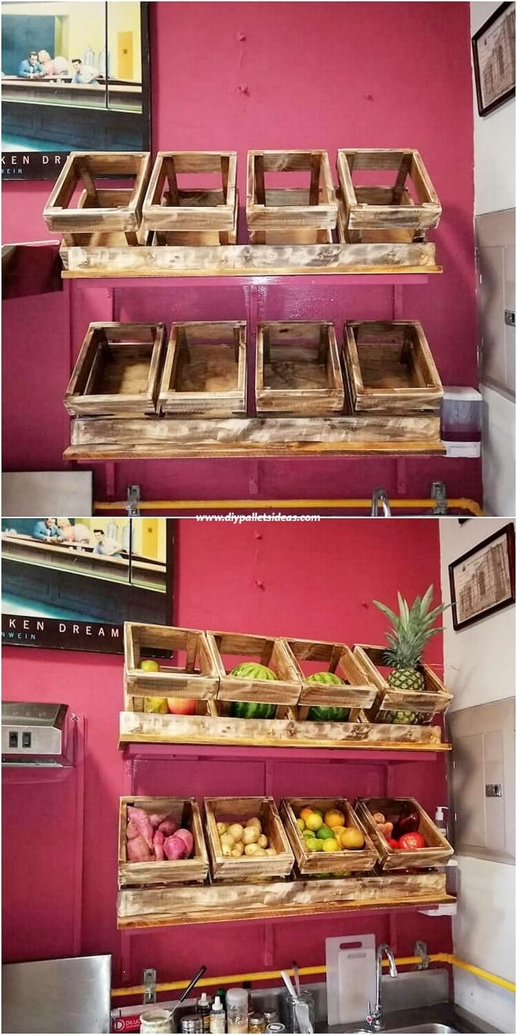Pallet Fruits and Vegetable Racks