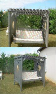Pallet Garden Swing Bench