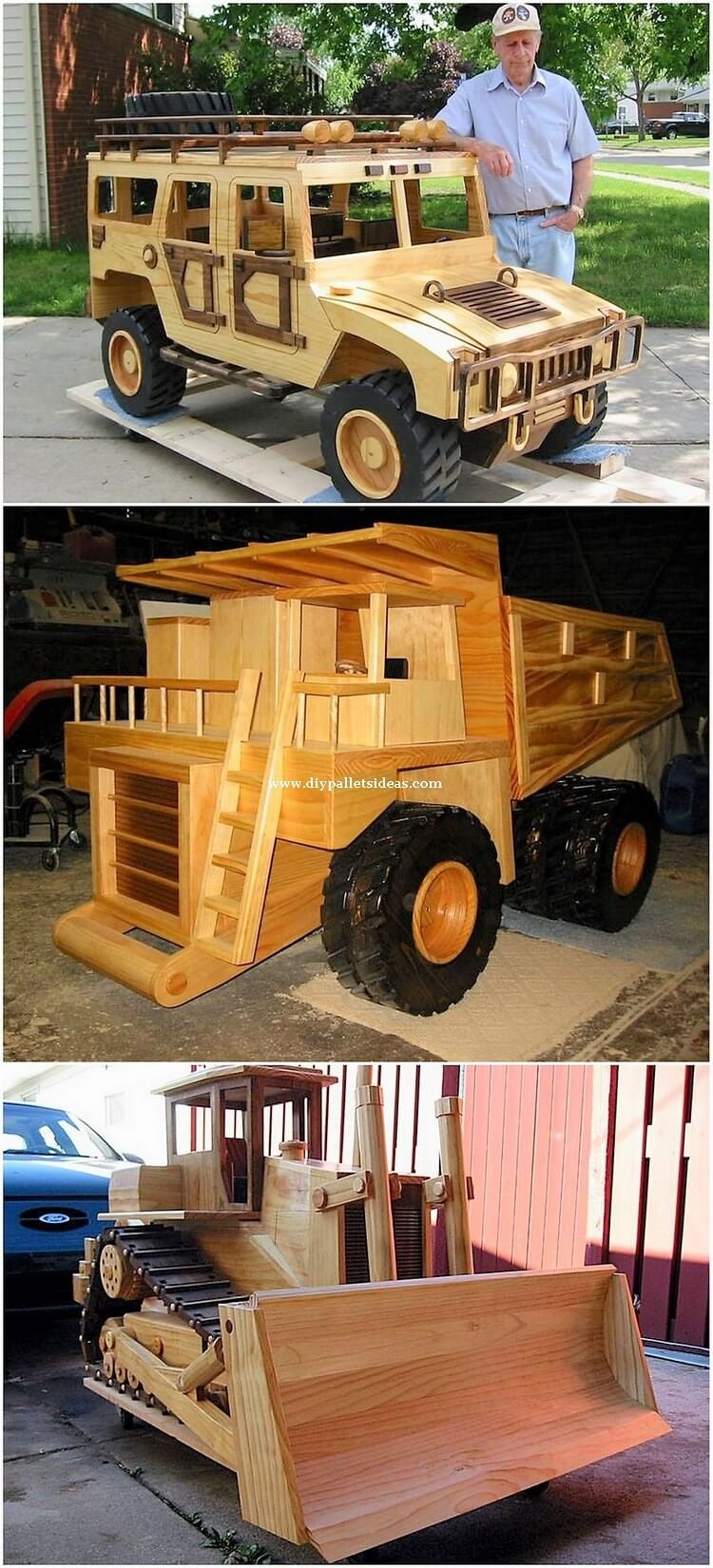 Pallet Jeep and Truck