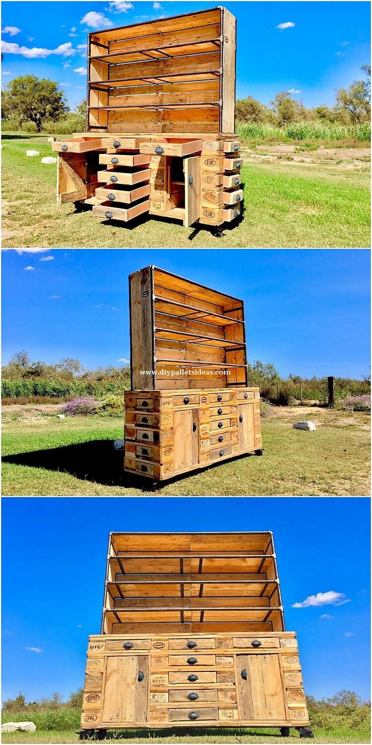 Pallet Shelving Cabinet or Chest of Drawers