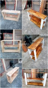 Recycled Wooden Pallet Shelving Table