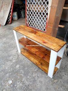 Wood Pallets Shelving Table