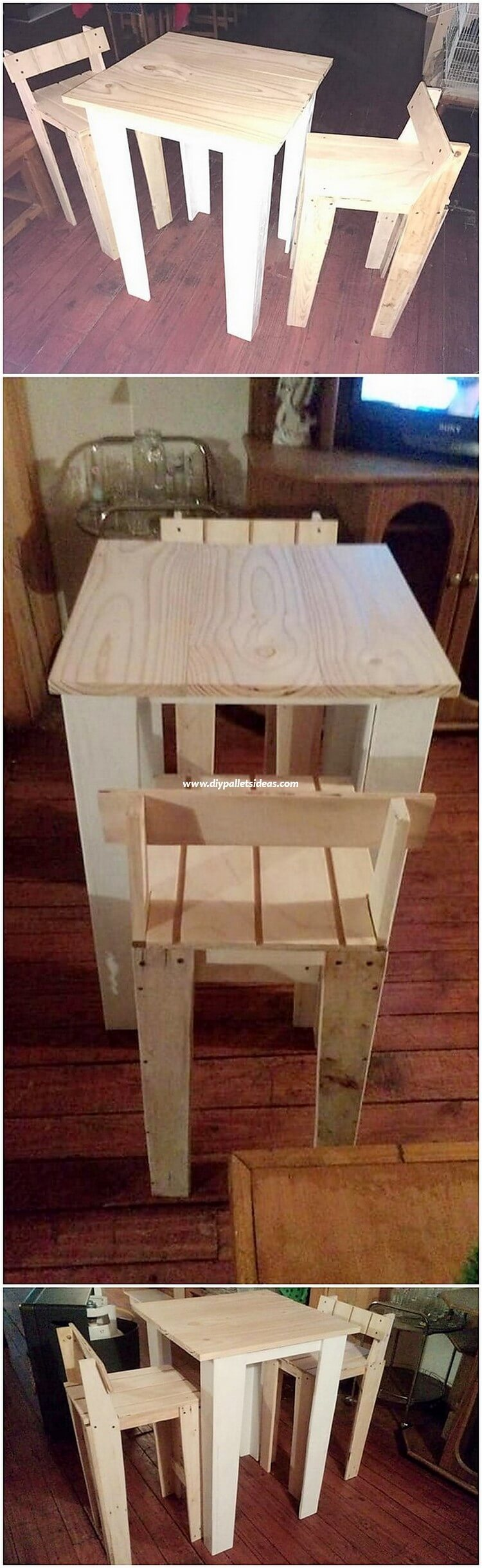 Wooden Pallet Chairs and Table
