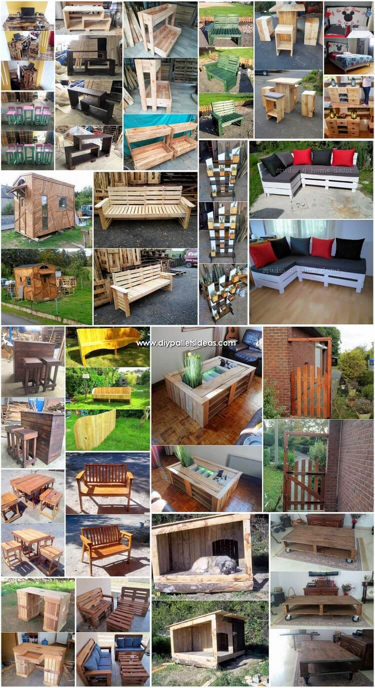 Inventive DIY Wood Pallet Ideas 2018