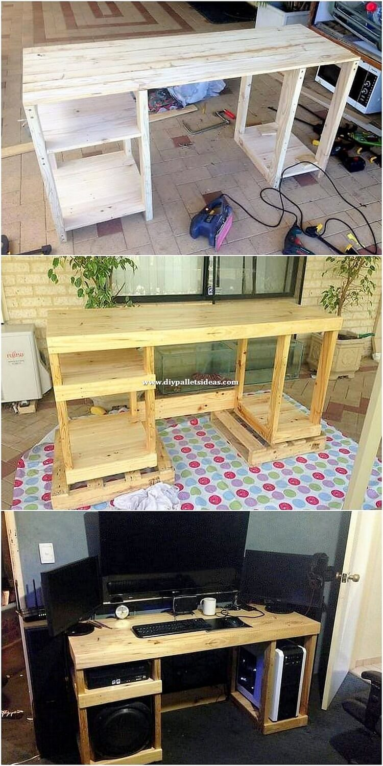 Pallet Computer Desk Table