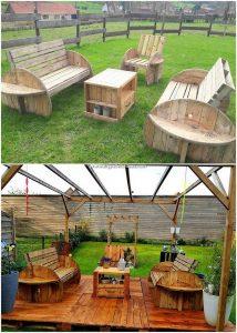 Pallet Garden Furniture with Terrace