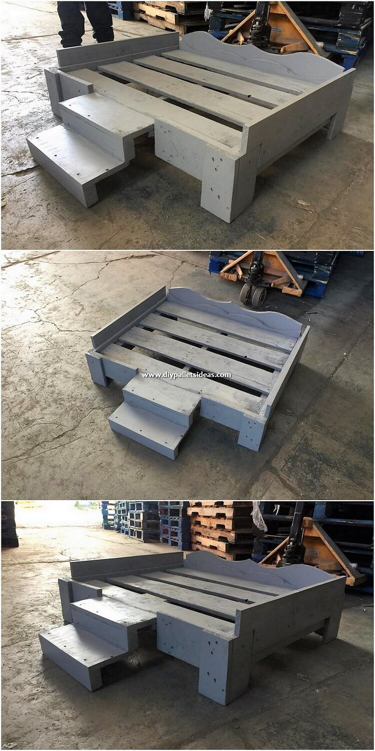 Pallet Pet Bed with Stairs