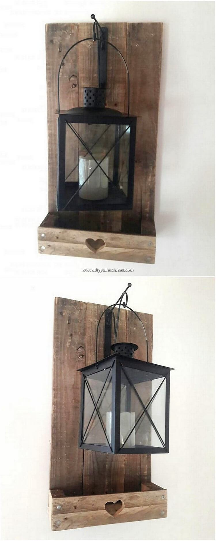 Pallet Wall Lamp Holder