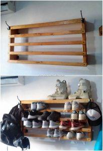 Pallet Wall Shoe RAck