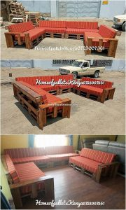 U Shaped Pallet Couch
