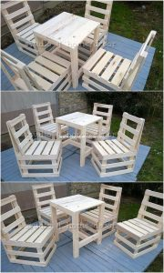 Wooden Pallet Table and Chairs
