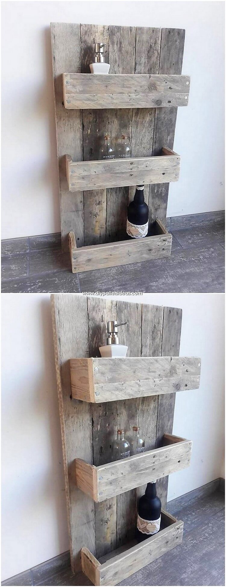 Pallet Kitchen Spice Rack or Shelf