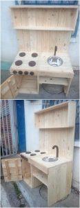 Pallet Kitchen with Sink