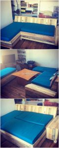 Pallet Sofa or Cum Bed