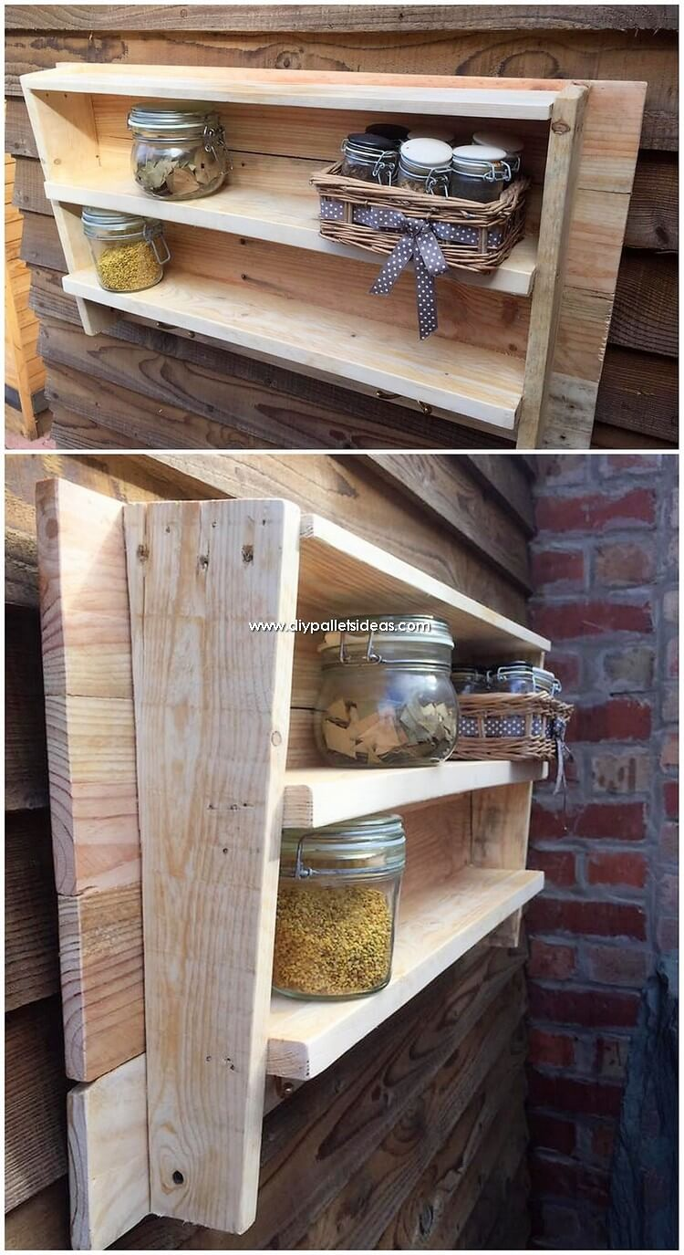 Pallet Spice Rack or Wall Shelf