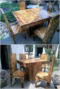 Pallet Table and Chairs