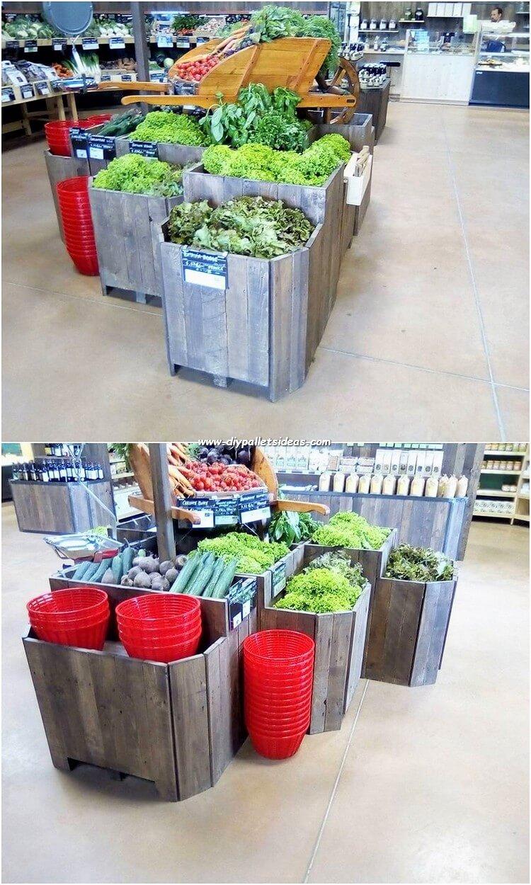 Pallet Vegetables Rack