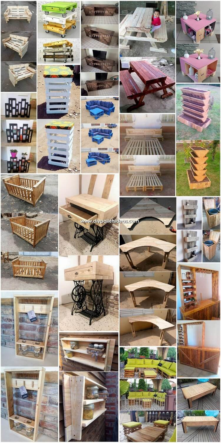 Pleasant Ideas for Wooden Pallets Recycling