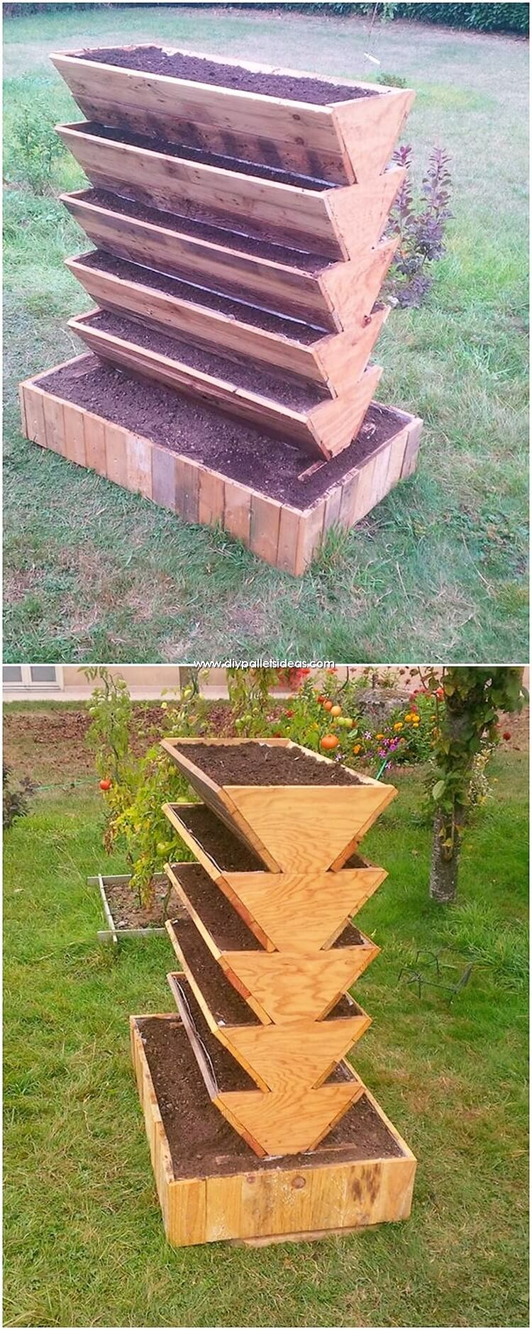 Tired Pallet Planter