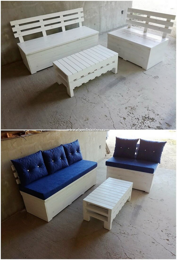 Wood Pallet Sofa and Table