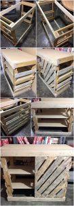 DIY Pallet Cabinet with Sliding Door