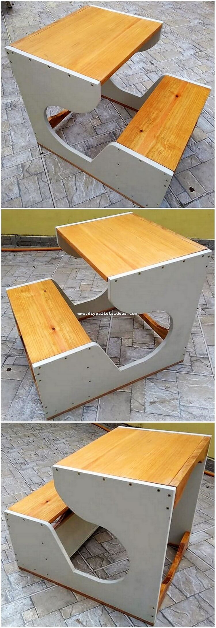 Pallet Bench with Table for Kids