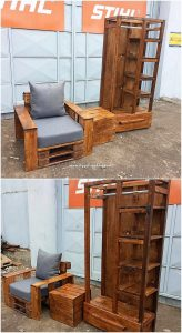 Pallet Chair and Closet