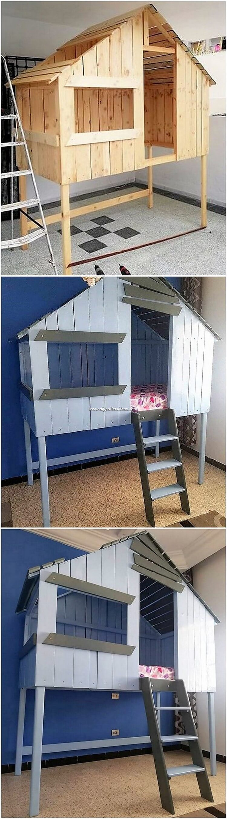 DIY Pallet Bunk Bed